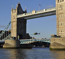 Tower Bridge and Helicoptor II by Karen Martin IPA