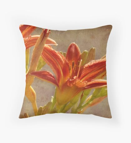 Day Lilies Throw Pillow