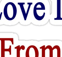 The Man I Love Is From South Korea  Sticker