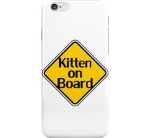 Baby Kitten On Board - Cat Sticker iPhone Case/Skin