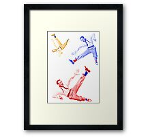 Jumping Fred Flash 1 Framed Print
