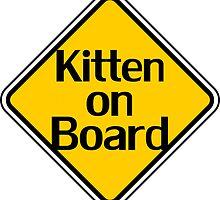 Baby Kitten On Board - Cat Sticker by deanworld