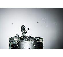 Water Splash into Glass Photographic Print