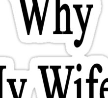 If I'm So Dumb Why Is My Wife An Illustrator?  Sticker
