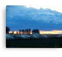 A.M. Blue's..Farm Country...Caldwell, Idaho Canvas Print