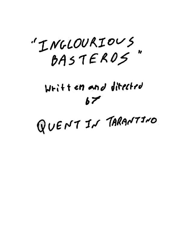 """Quentin Tarantino - Inglourious Basterds script"" Stickers ..."