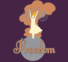 Biking is Freedom Womens Fitted T-Shirt