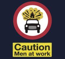 Caution: Men At Work One Piece - Short Sleeve