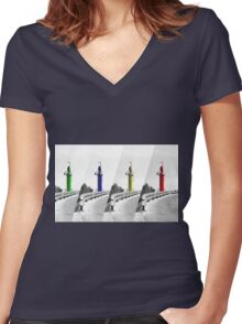 Safe Way Women's Fitted V-Neck T-Shirt