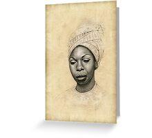 Nina Simone Greeting Card