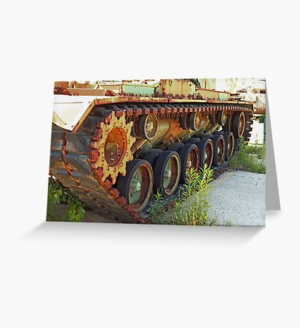 Tank Treads Greeting Card