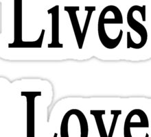 My Husband Lives And Loves To Heal Cats  Sticker
