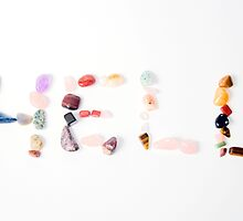 New age crystals and gemstones spelling out HELL by PhotoStock-Isra