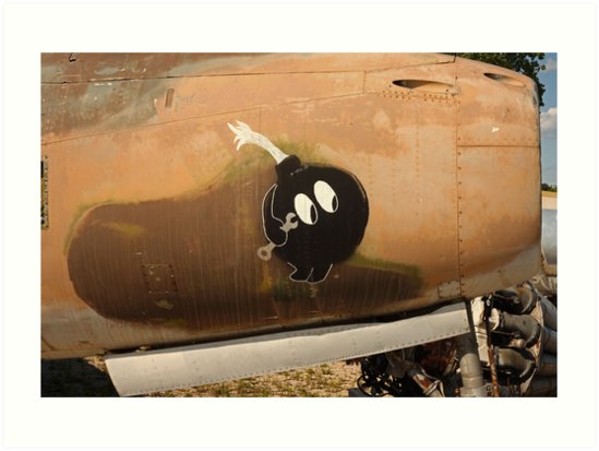An Image of Luck Painted on Jet Engine Housing by Thomas Murphy