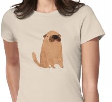 Brown Doggy Womens Fitted T-Shirt