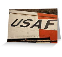 USAF Logo on Wing Greeting Card