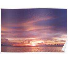 Puerto Galera Sunset 1 Poster