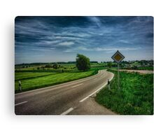 right of way landscape Canvas Print