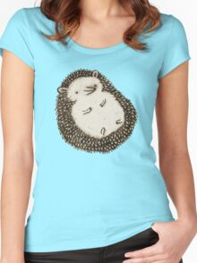 Plump Hedgehog Women's Fitted Scoop T-Shirt