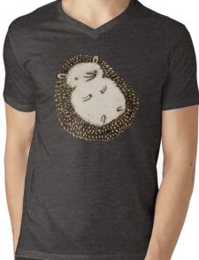 Plump Hedgehog Mens V-Neck T-Shirt