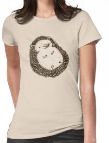 Plump Hedgehog Womens Fitted T-Shirt