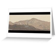 Hollywood Sign (v. 2 edit) Greeting Card