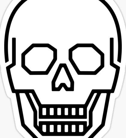 Skull Line Logo Sticker