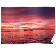 Puerto Galera Sunset Banana Boat Poster