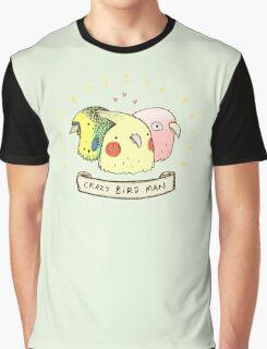 Crazy Bird Man Graphic T-Shirt