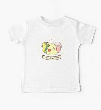 Crazy Bird Man Baby Tee