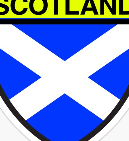 Scotland Flag and Shield  Sticker