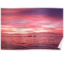 Puerto Galera Sunset Fishing Poster