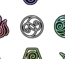 Avatar The Last Airbender; Forms of Bending Sticker