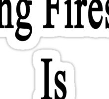 Not Now Putting Fires Out Is More Important  Sticker
