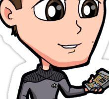 Star Trek TNG - Ensign Cadet Wesley Crusher with Tricorder Sticker