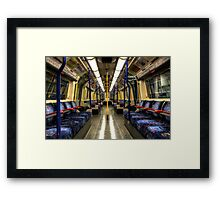 Inside Tube Train Framed Print
