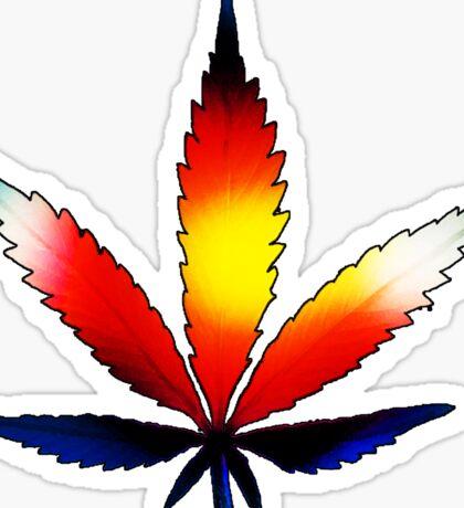 Colorado Marijuana Leaf Sticker