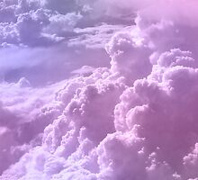 Pastel clouds iPhone case by flapperzapper
