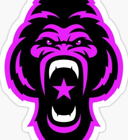 Pink Gorilla Sticker