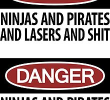 Ninjas and Pirates and Lasers, Oh My! ×2 by ynnej