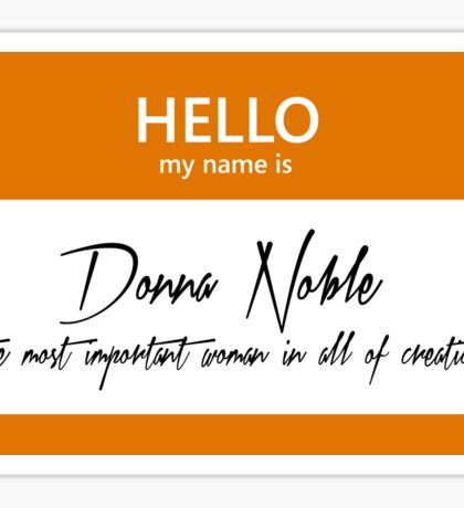 Donna Noble Name Tag Sticker