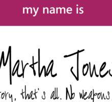 Martha Jones Name Tag Sticker