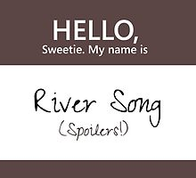 River Song Name Tag by Kristina Moy