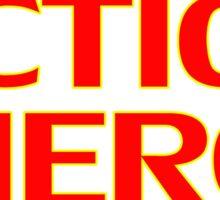 Action Hero -T-Shirt Sticker Sticker