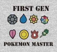 First Generation Pokemon Master Kids Tee