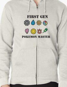 First Generation Pokemon Master Zipped Hoodie