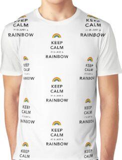 Keep Calm Rainbow on white Graphic T-Shirt