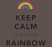 Keep Calm Rainbow on white One Piece - Short Sleeve