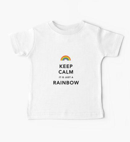 Keep Calm Rainbow on white Baby Tee