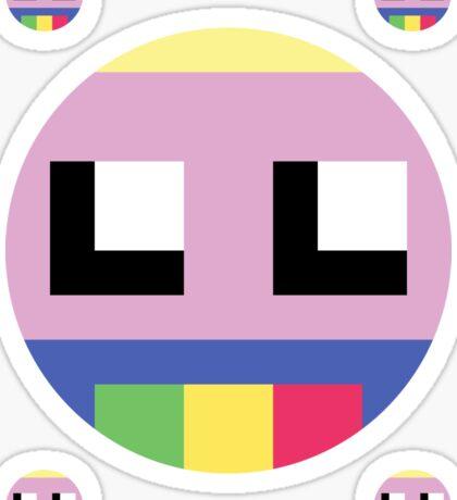 8-bit Lady Rainicorn Sticker Sticker